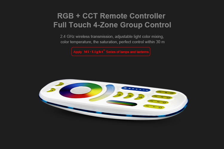 2.4GHz 4 Zone RGB+CCT Remote Controller