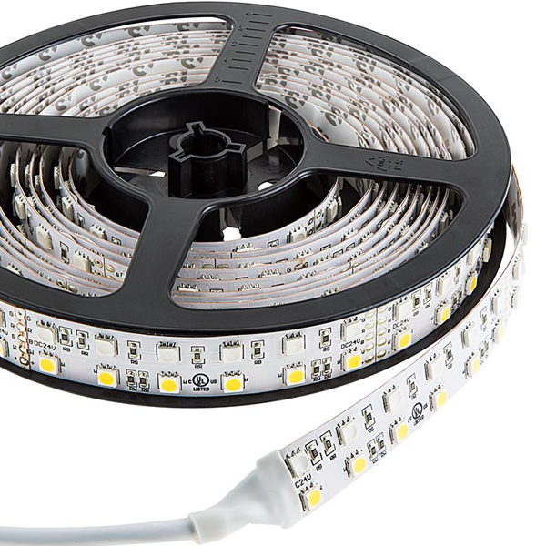 Dual Row LED Light Strips with Multi Color + White LEDs - LED Tape Light with 36 SMDs/ft., 3 Chip RGBW SMD LED 5050
