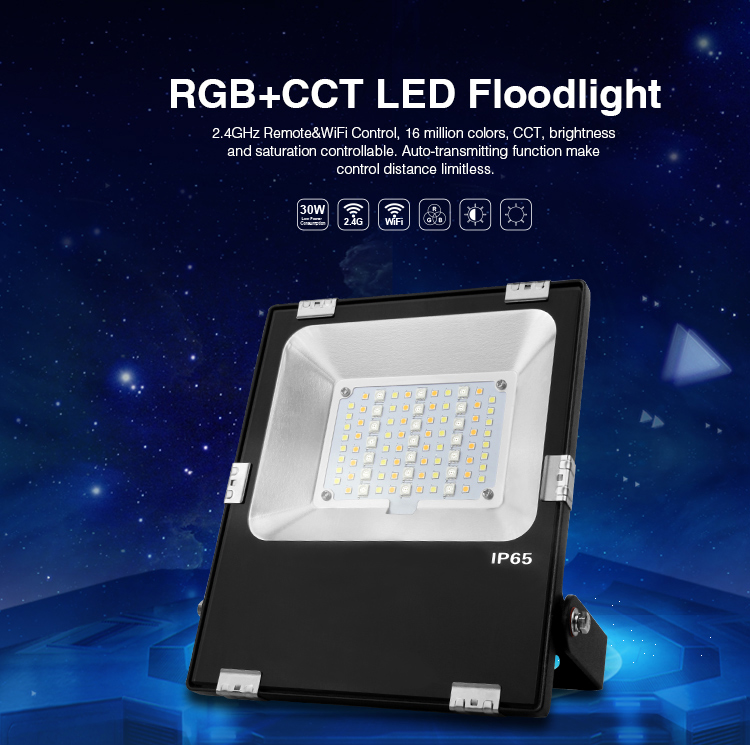 30W RGB+CCT LED Floodlight