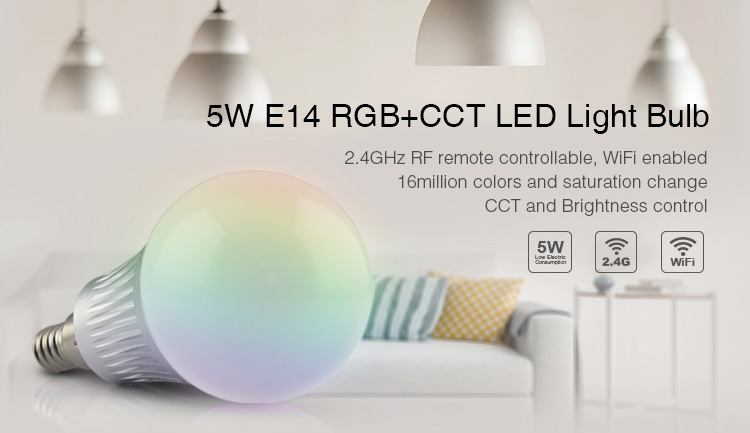 5W E14 RGB+CCT LED Light Blub