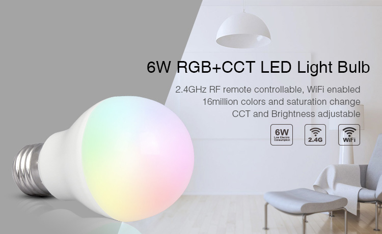 6W RGB+CCT LED Light Bulb