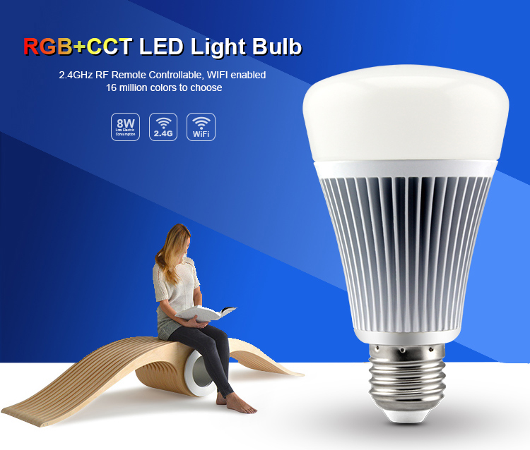 8W RGB+CCT LED Light Bulb