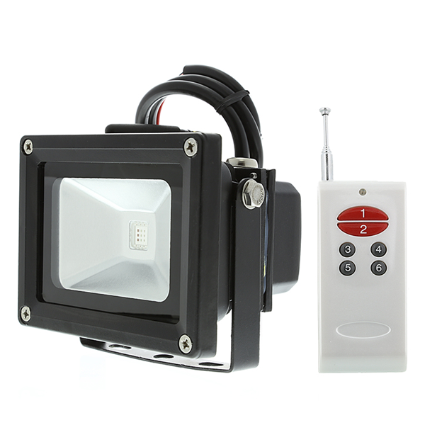 High Power 10W RGB LED Flood Light Fixture with Remote