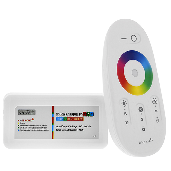 Smartphone or Tablet WiFi Compatible RGB Controller w/ RF Touch Color Remote