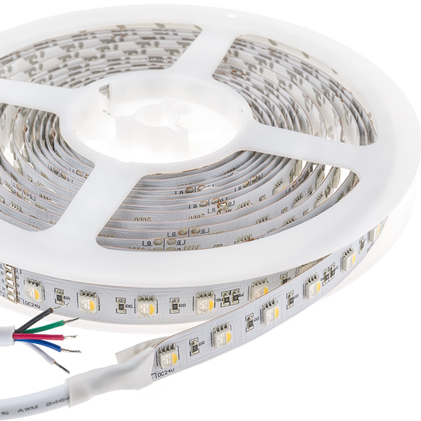 LED Light Strips with RGBW SMD LEDs - LED Tape Light with Advanced Color Blending, 4 Chip RGBW SMD LED 5050