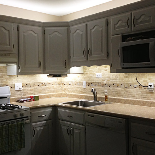 Stripping Kitchen Cabinets: Under Cabinet LED Lighting Kit