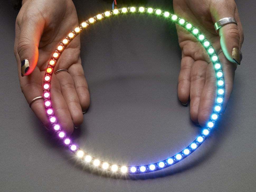 NeoPixel 60 Ring - 5050 RGBW LED w/ Integrated Drivers - Warm White - ~3500K