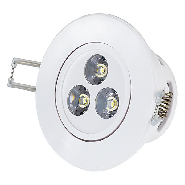 3 watt warm white led recessed light fixture aimable rlfad w3w 3 watt warm white led recessed light fixture aimable aloadofball Gallery