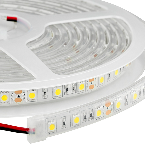 Waterproof LED Light Strips - Outdoor LED Tape Light with 18 SMDs/ft., 3 Chip SMD LED 5050