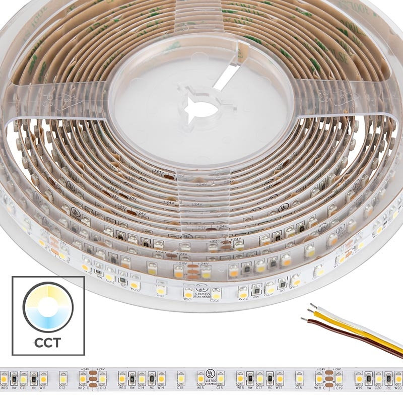 3528 Tunable White LED Strip Light/Tape Light - 24V - IP20 - 350 Lumens/ft
